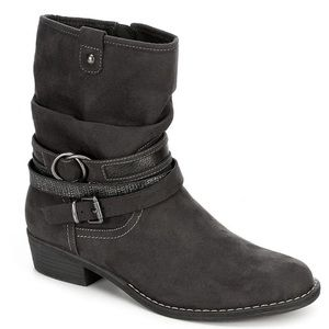 XAPPEAL Shin High Low Heel Slouch Boot Size 9M